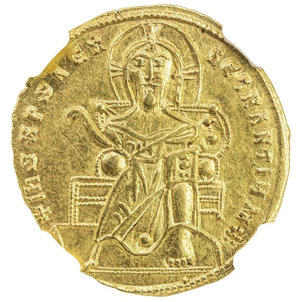 BYZANTINE EMPIRE: Romanus I Lecapenus, 920-944, AV solidus (4.40g), Constantinople. NGC AU