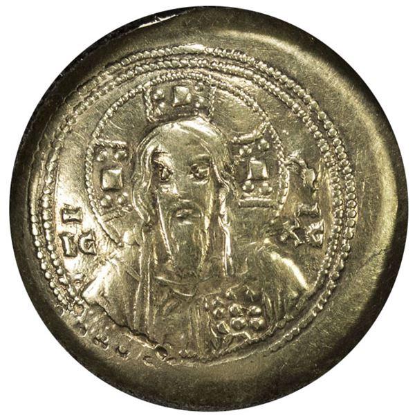 BYZANTINE EMPIRE: Michael VII Doukas, 1071-1078, EL histamenon nomisma (4.27g), Constantinople. EF