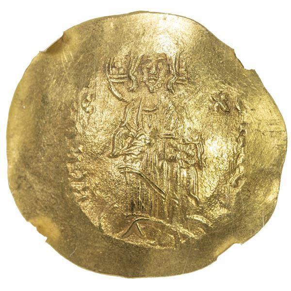 BYZANTINE EMPIRE: Alexius III Angelus-Comnenus, 1195-1203, AV hyperpyron (4.31g), Constantinople. NG