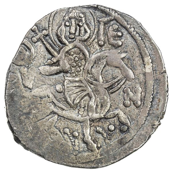 EMPIRE OF TREBIZOND: Alexius III, 1349-1390, AR asper (2.28g). VF