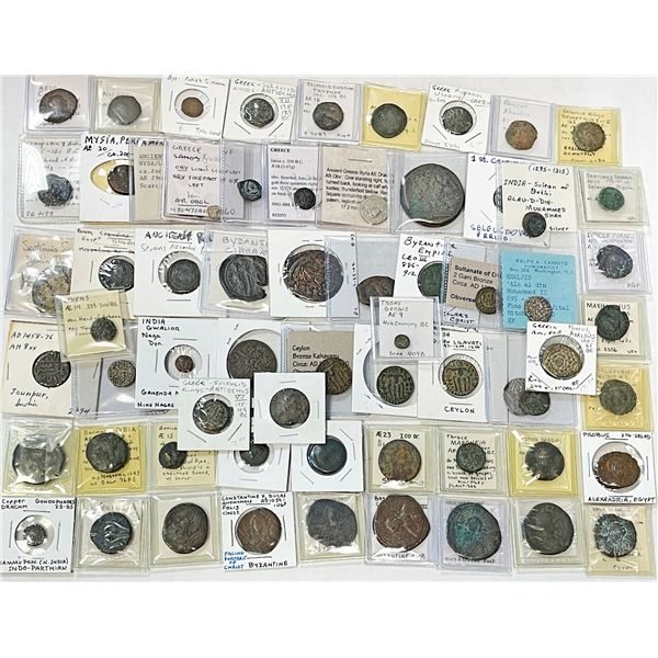 ANCIENT: LOT of 64 coins (mostly copper) from ancient city states & kingdoms
