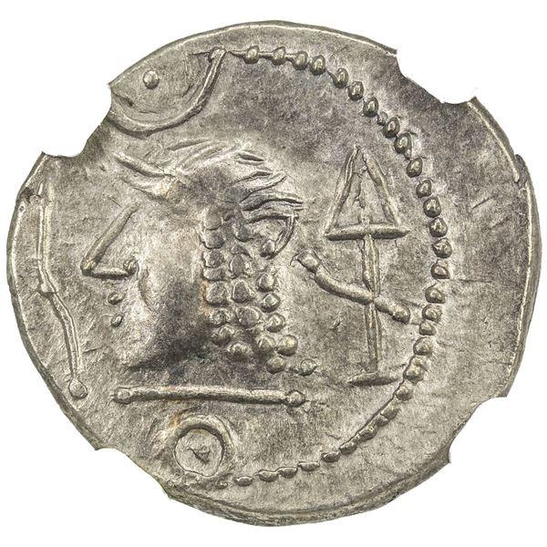 HIMYARITE: AR denarius (2.47g), ca. 1st century AD. NGC AU