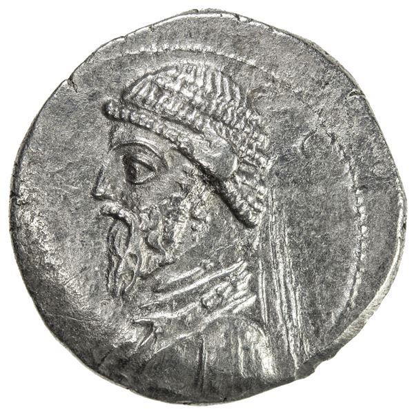 PARTHIAN KINGDOM: Artabanos I, c. 127-123 BC, AR drachm (3.79g), Ekbatana. EF