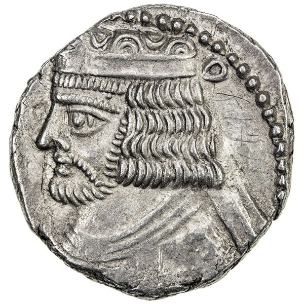 PARTHIAN KINGDOM: Vardanes II, 55-58 AD, AR tetradrachm (14.09g), Seleukeia on the Tigris, SE367 (55