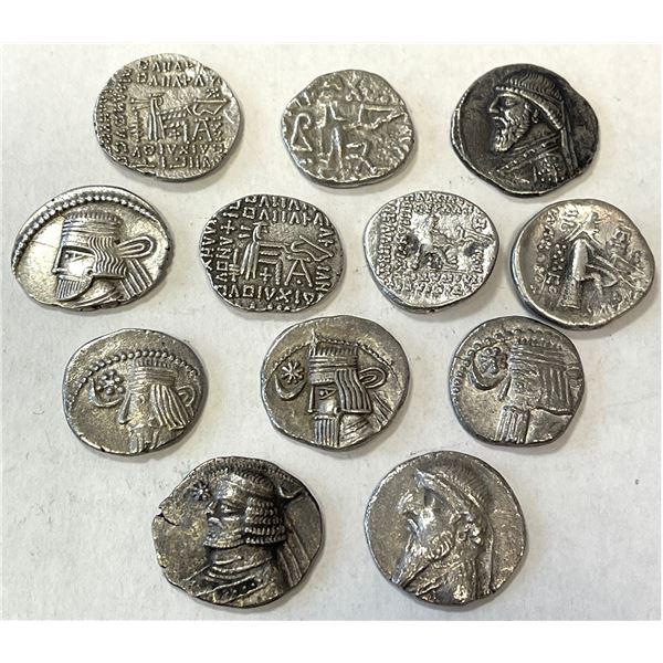PARTHIAN KINGDOM: LOT of 12 silver drachms