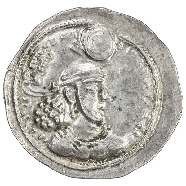 SASANIAN KINGDOM: Ardashir II, 379-383, AR drachm (4.12g). EF