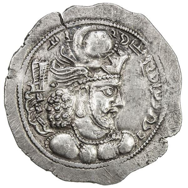 SASANIAN KINGDOM: Varhran IV, 388-399, AR drachm (4.11g), HL (Herat). EF