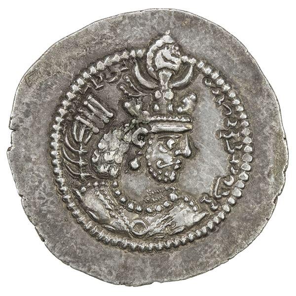 SASANIAN KINGDOM: Yazdigerd II, 438-457, AR drachm (3.98g), NM. EF