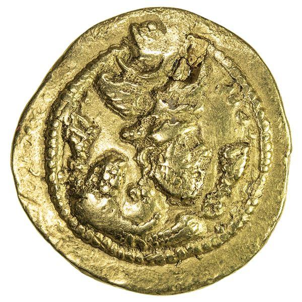 SASANIAN KINGDOM: Peroz, 457-484, AV dinar (3.98g), WH (Junday Sabur)