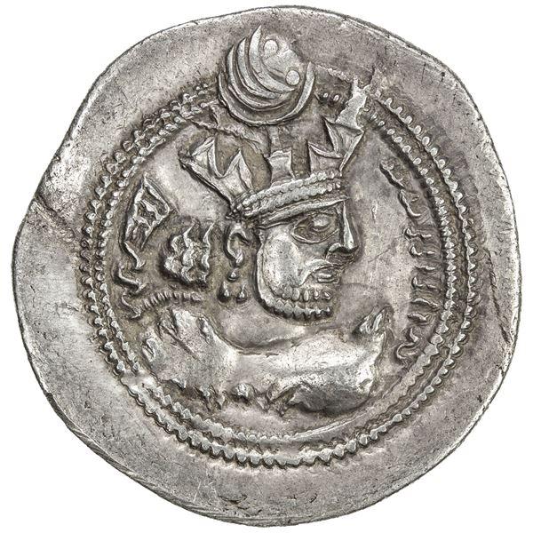 SASANIAN KINGDOM: Valkash, 484-488, AR drachm (4.01g), AY (Susa), ND. VF-EF