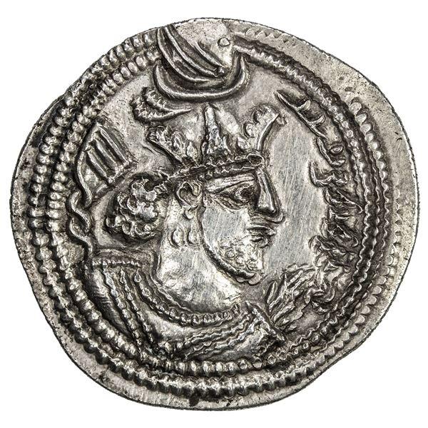 SASANIAN KINGDOM: Valkash, 484-488, AR drachm (4.21g), AS (the Treasury mint), ND. EF