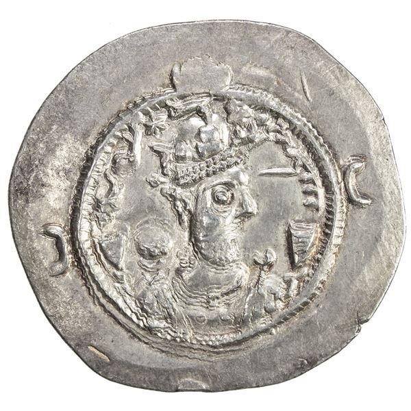 SASANIAN KINGDOM: Varhran VI, 590-591, AR drachm (4.11g), GD (Jayy), year 1. EF