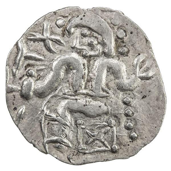 SOUTHERN SOGHD: Unknown ruler, 1st-2nd century, AR obol (0.55g). EF