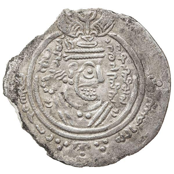 ARAB-SASANIAN: 'Abd al-Rahman b. Muhammad, 700-703, AR drachm (3.32g), DA (Darabjird), YE70 (= AH82/