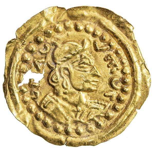 UMAYYAD/ABBASID: Anonymous, 7th/10th century, AV burial piece (0.67g). EF