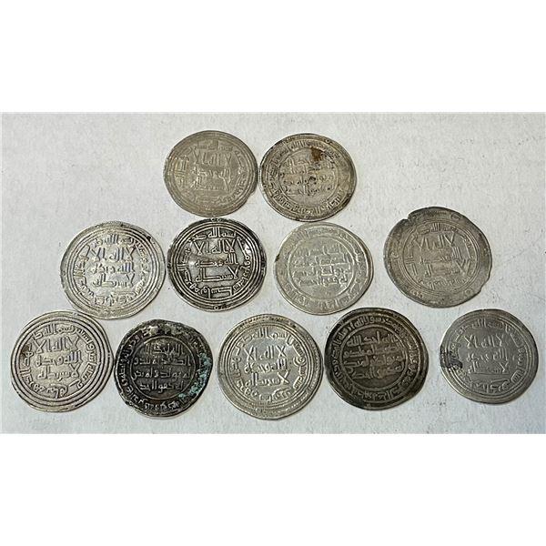 UMAYYAD: LOT of 11 silver dirhams