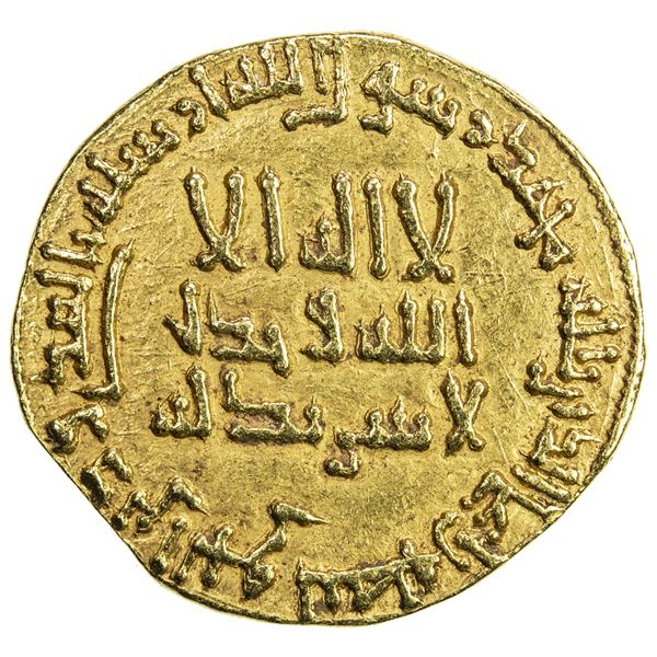 ABBASID: al-Mahdi, 775-785, AV dinar (4.16g), NM, AH164. VF-EF