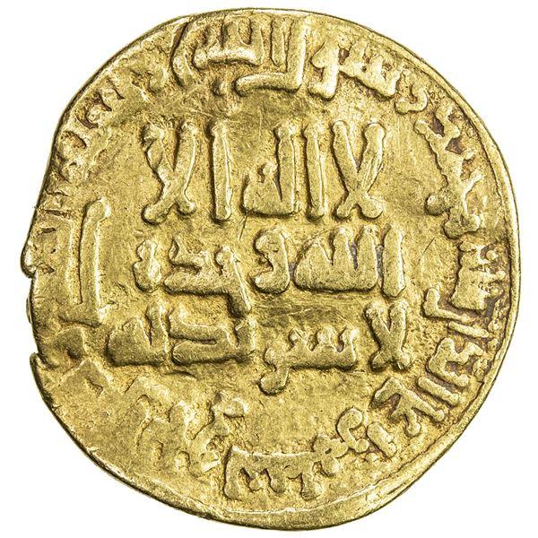 ABBASID: al-Mahdi, 775-785, AV dinar (4.00g), NM, AH168. F-VF