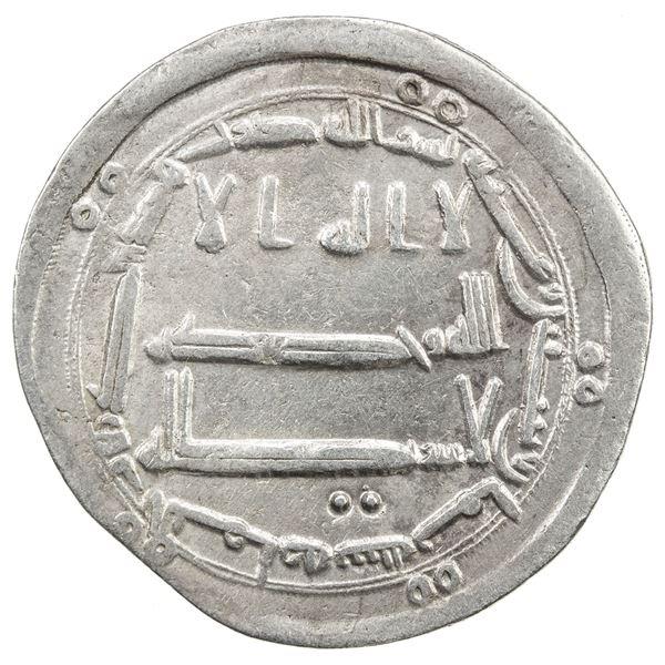 ABBASID: al-Mahdi, 775-785, AR dirham (2.91g), al-Yamama, AH168. VF