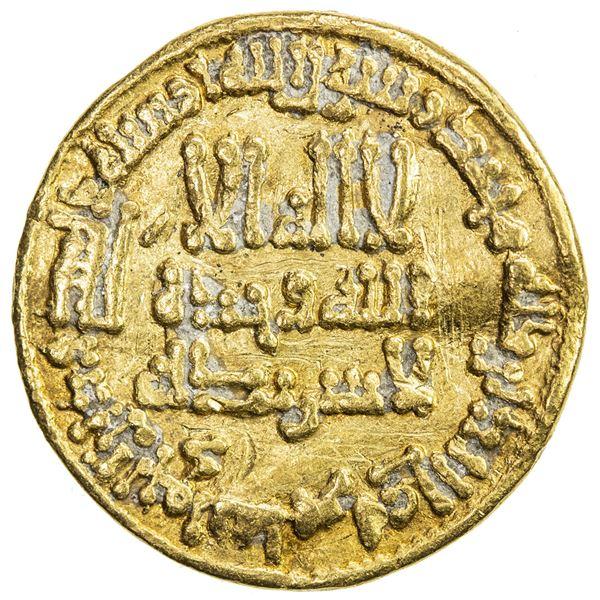 ABBASID: al-Rashid, 786-809, AV dinar (4.16g), NM, AH181. VF