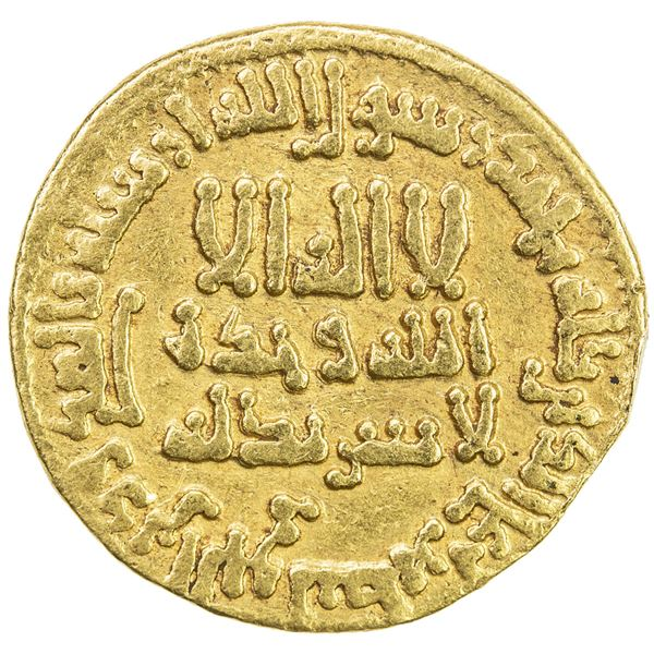 ABBASID: al-Rashid, 786-809, AV dinar (4.19g), NM (Egypt), AH182. VF