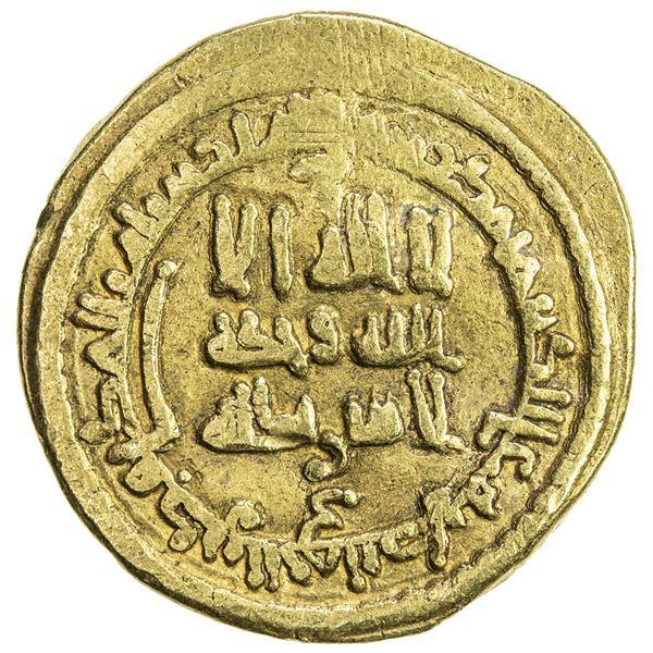 ABBASID: al-Ma'mun, 810-833, AV dinar (4.48g), NM, AH211. VF
