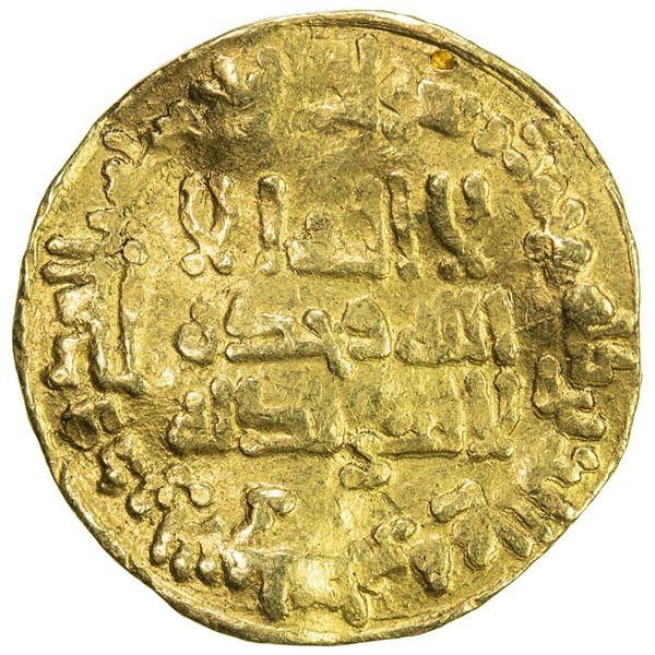 ABBASID: temp. al Mu'tasim, 833-842, AV dinar (3.74g), NM, AH224. F-VF