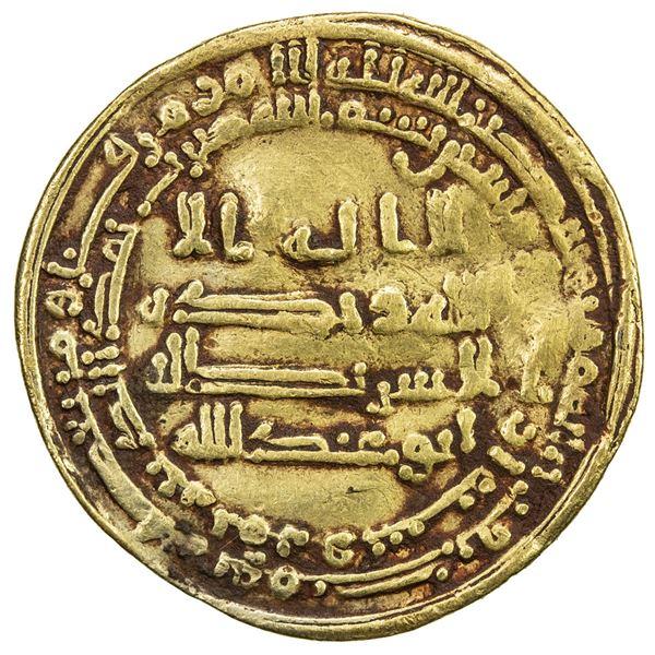 ABBASID: al-Mutawakkil, 847-861, AV dinar (4.20g), Marw, AH240. F-VF