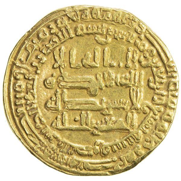 ABBASID: al-Mutawakkil, 847-861, AV dinar (4.32g), al-Basra, AH247. VF
