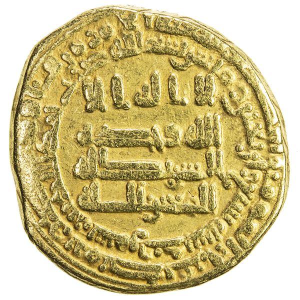 ABBASID: al-Mutawakkil, 847-861, AV dinar (3.66g), Samarqand, AH247. VF