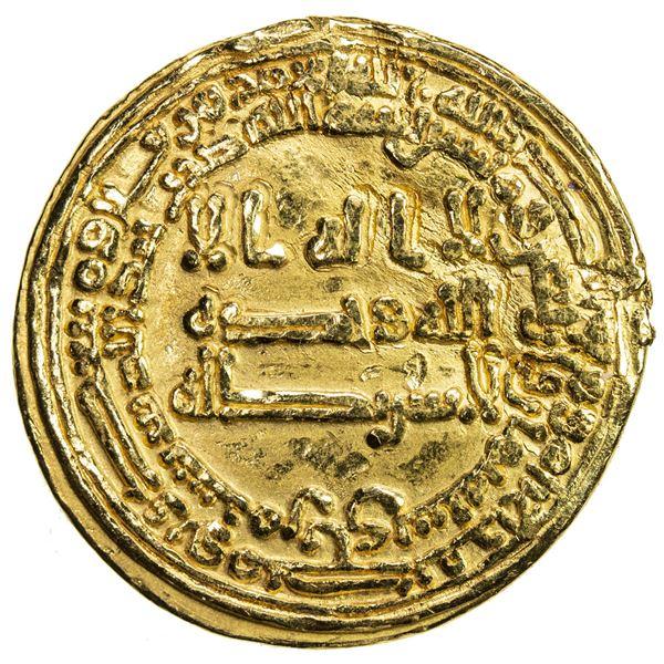 ABBASID: al-Muntasir, 861-862, AV dinar (4.14g), Surra man Ra'a (Samarra), AH248. VF