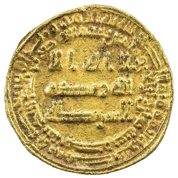 ABBASID: al-Musta'in, 862-866, AV dinar (4.12g), Misr, AH248. VF