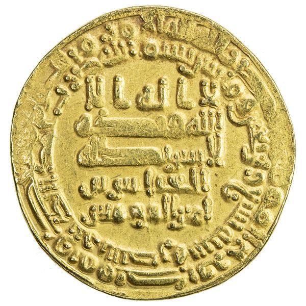 ABBASID: al-Musta'in, 862-866, AV dinar (4.29g), al-Basra, AH249. VF