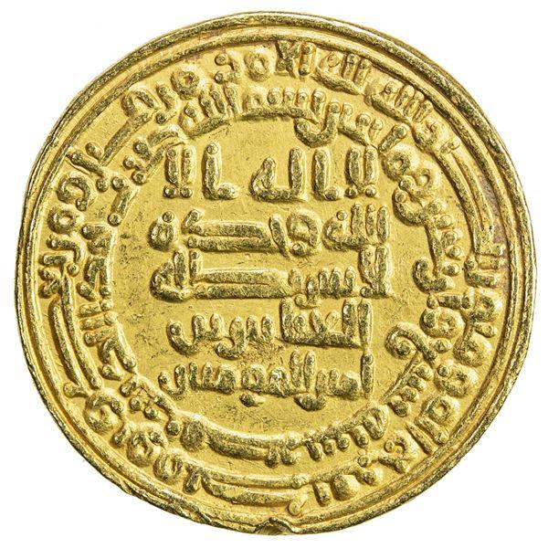 ABBASID: al-Musta'in, 862-866, AV dinar (4.16g), Misr, AH249. VF