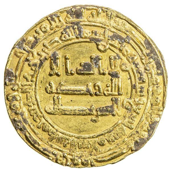 ABBASID: al-Mu'tadid, 892-902, AV dinar (4.12g), Madinat al-Salam, AH279. VF-EF