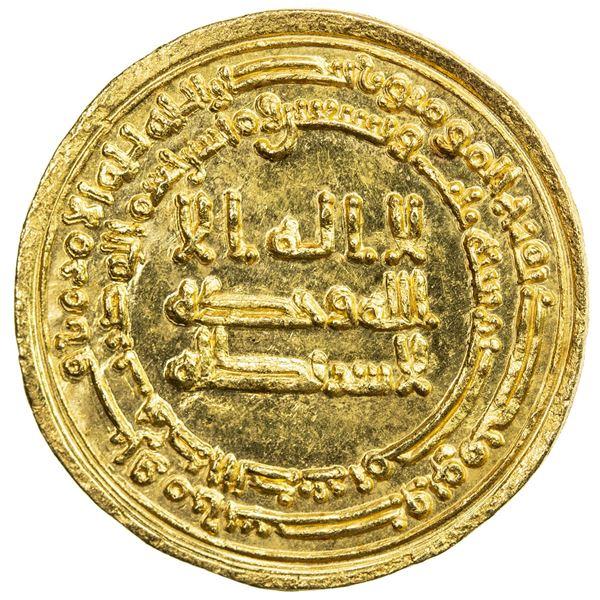 ABBASID: al-Muktafi, 902-908, AV dinar (4.16g), Misr, AH293. UNC