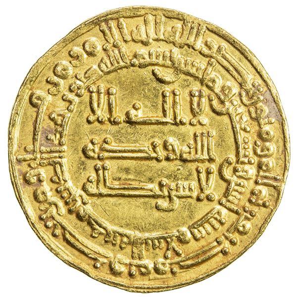 ABBASID: al-Muktafi, 902-908, AV dinar (4.30g), Madinat al-Salam, AH292. EF