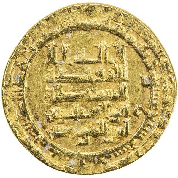 ABBASID: al-Muqtadir, 908-932, AV dinar (3.30g), Madinat al-Salam, AH317. VF-EF