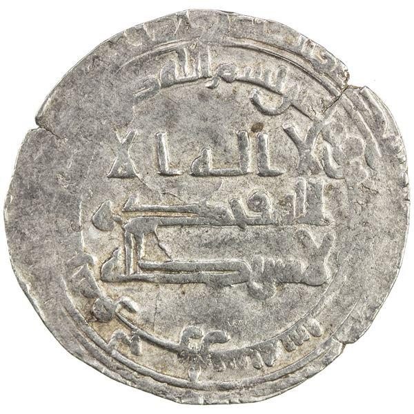 ABBASID: al-Muqtadir, 908-932, AR dirham (2.61g), Harran, AH296. VF-EF