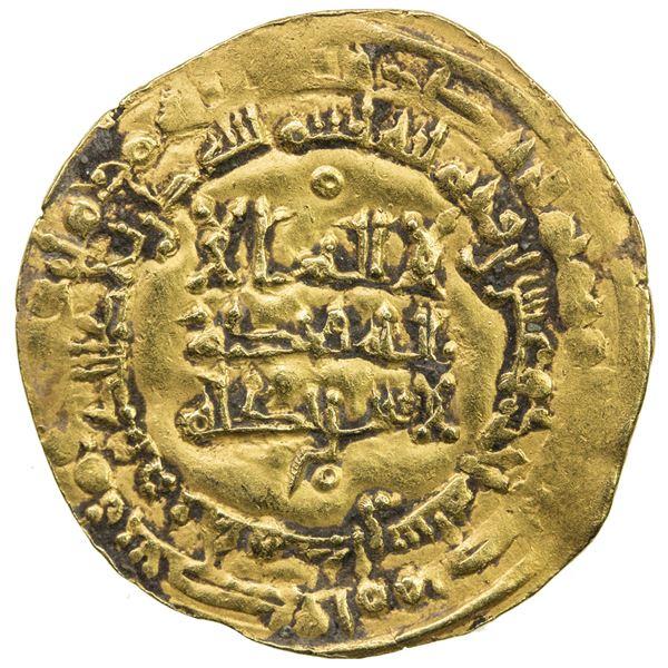 ABBASID: al-Qahir, 932-934, AV dinar (3.97g), Hamadan (Hamadhan), AH321. VF-EF