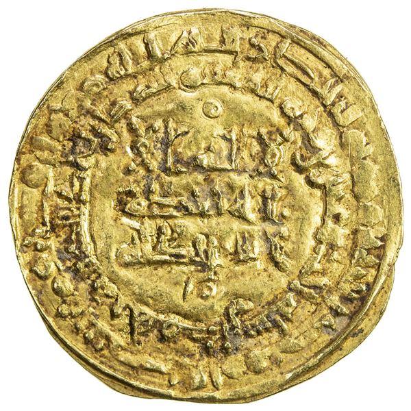 ABBASID: al-Qahir, 932-934, AV dinar (3.45g), Hamadan, AH321. VF-EF