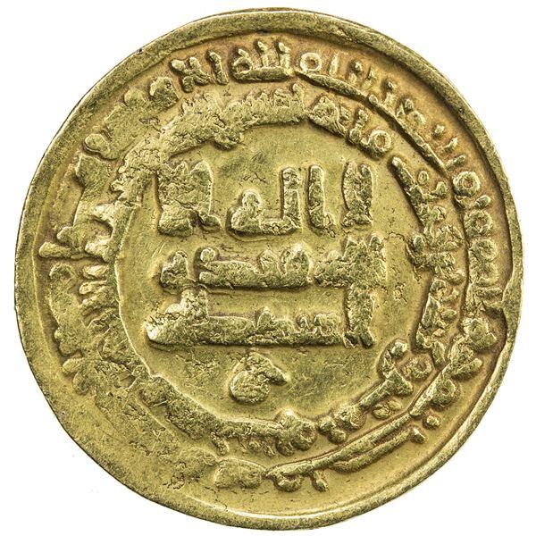 ABBASID: al-Radi, 934-940, AV dinar (4.30g), Misr, AH325. VF