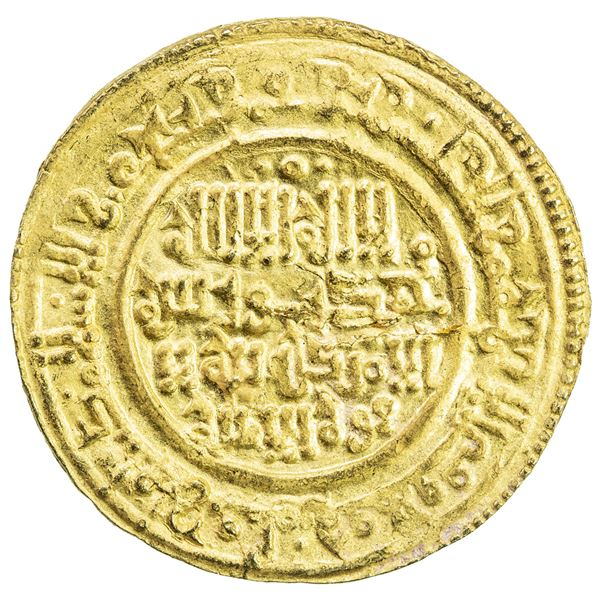 TAIFAS ALMORAVIDES: Anonymous, 1146-1155, AV dinar (3.92g), NM, AH544. EF