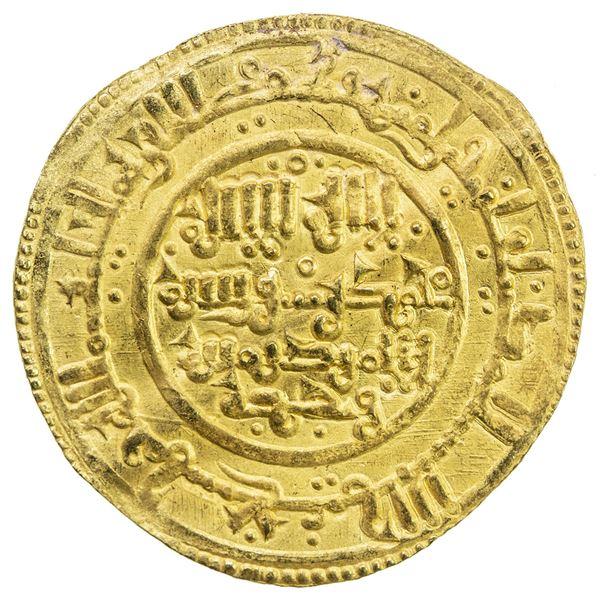 TAIFAS ALMORAVIDES: Anonymous, 1146-1155, AV dinar (3.78g), NM, AH544. EF