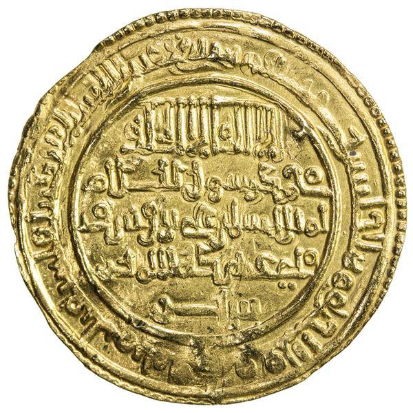 ALMORAVID: 'Ali, 1106-1142, AV dinar (4.09g), Sijilmasa, AH523. VF-EF