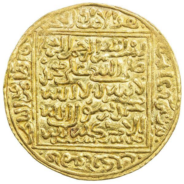 MERINID: Abu Ya'qub Yusuf, 1286-1307, AV dinar (4.60g), Madinat Sabta (= Ceuta), ND. EF