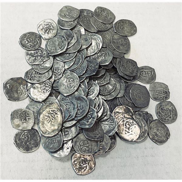 ALAWI SHARIF: Sulayman, 1793-1822, LOT of 133 silver dirhams