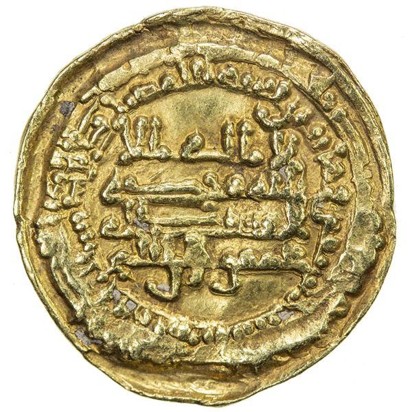 TULUNID: Khumarawayh, 884-896, AV dinar (3.67g), al-Rafiqa, AH276. VF