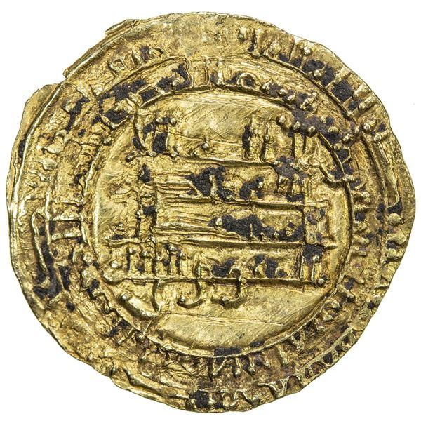 TULUNID: Khumarawayh, 884-896, AV dinar (3.62g), al-Rafiqa, AH277. EF