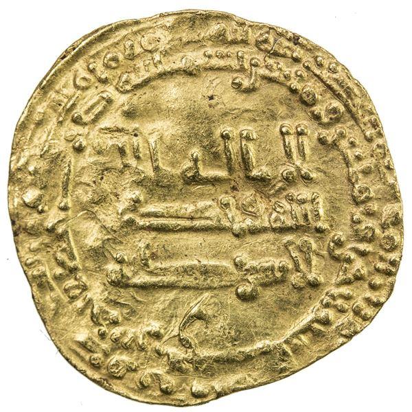 TULUNID: Khumarawayh, 884-896, AV dinar (2.24g), al-Rafiqa, AH281. VF